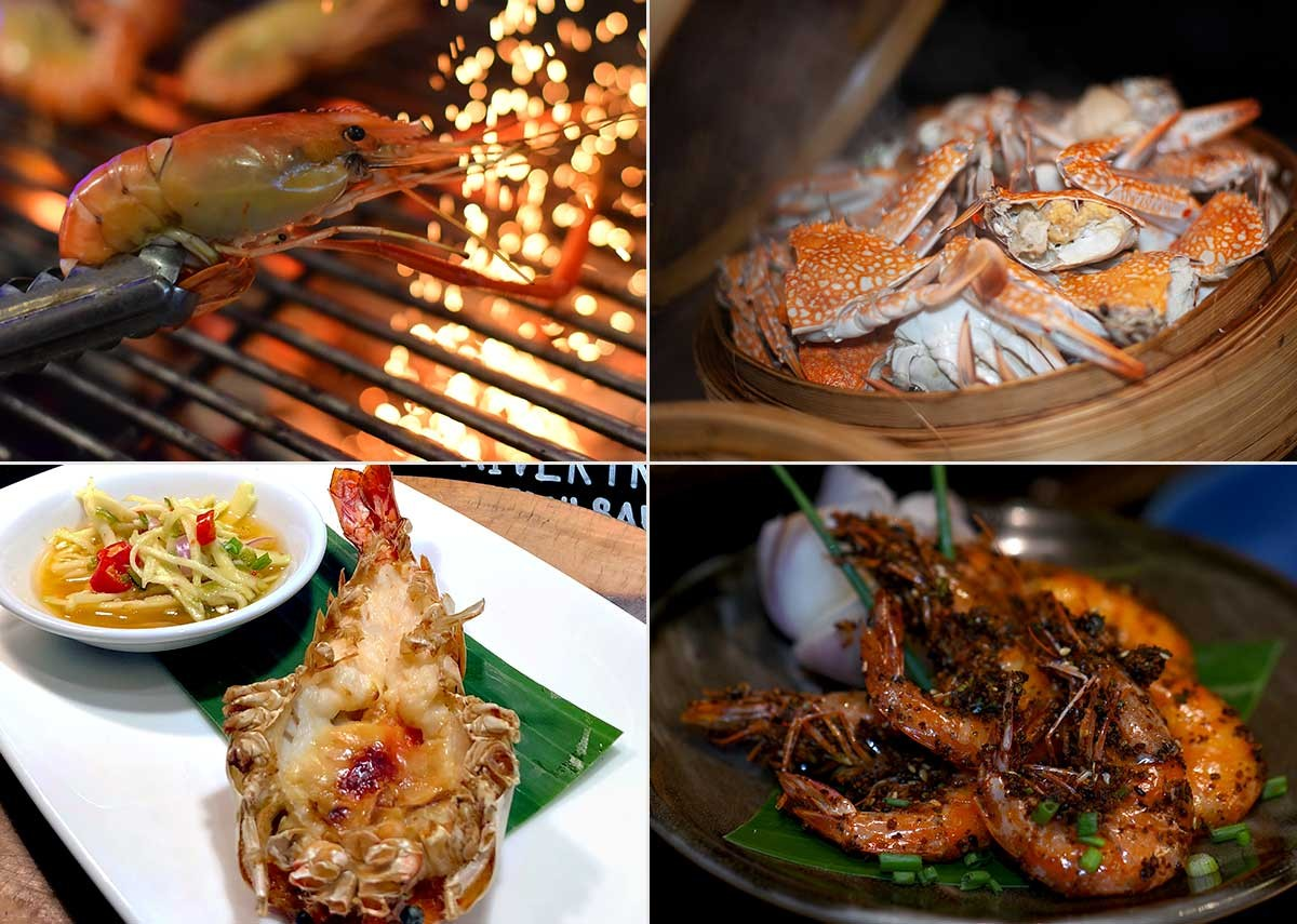 River Prawn Buffet in Bangkok
